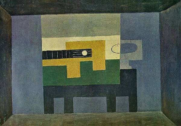 Et Digital Art - 1918 Guitare Et Cruche Sur U by Mery Moon