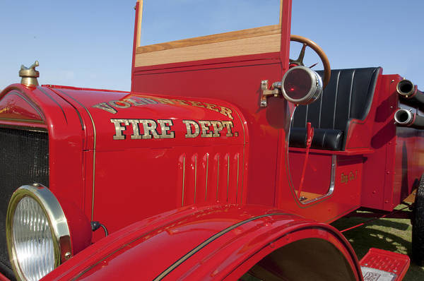 Photograph - 1919 Volunteer Fire Truck by Jill Reger