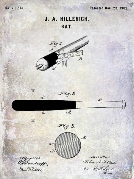 Wall Art - Photograph - 1920 Baseball Bat Patent by Jon Neidert