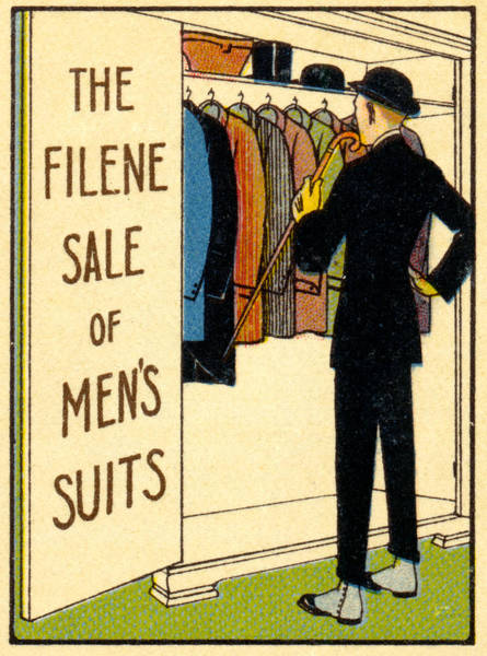 Mens Clothing Wall Art - Painting - 1920 Mens's Suites On Sale by Historic Image