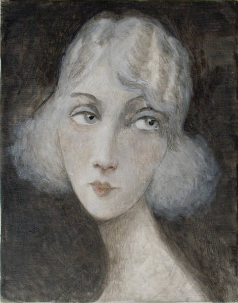 Wall Art - Painting - 1920's Style Young Woman by Ilir Pojani
