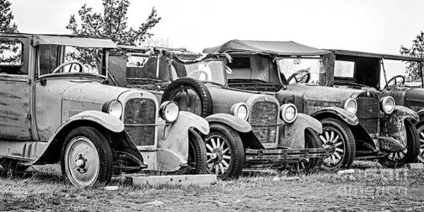 Photograph - 1920s Vintage Cars by David Millenheft
