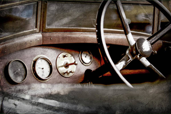 Photograph - 1921 Bentley Steering Wheel -0454ac by Jill Reger