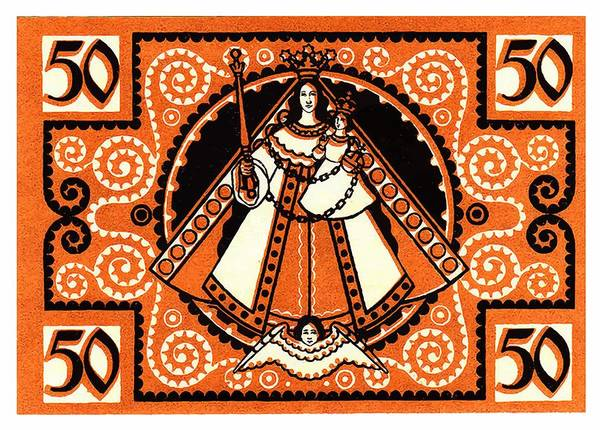 Virgin Digital Art - 1921 Grace Of Kevelaer Notgeld Banknote by Retro Graphics