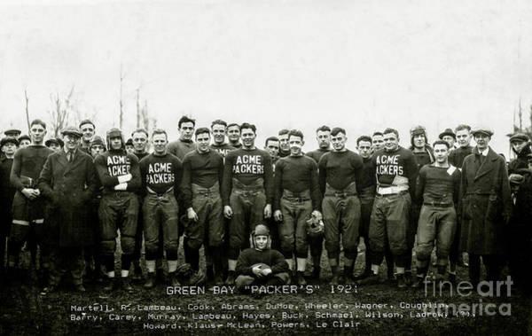 Wall Art - Photograph - 1921 Green Bay Packers Team by Jon Neidert