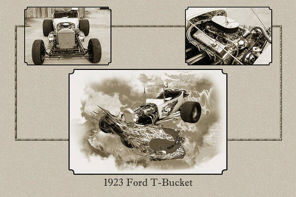 T-bucket Photograph - 1923 Ford T-bucket Vintage Classic Car Photograph 5691.01 by M K Miller