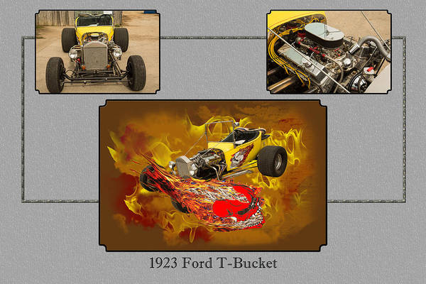 T-bucket Photograph - 1923 Ford T-bucket Vintage Classic Car Photograph 5692.02 by M K Miller
