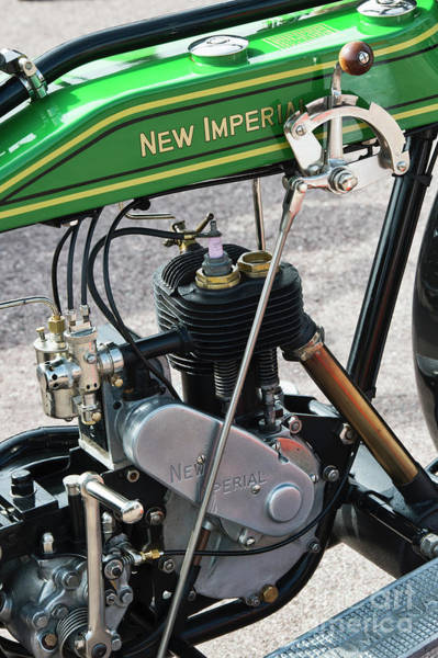Photograph - 1923 New Imperial Motorcycle Engine by Tim Gainey