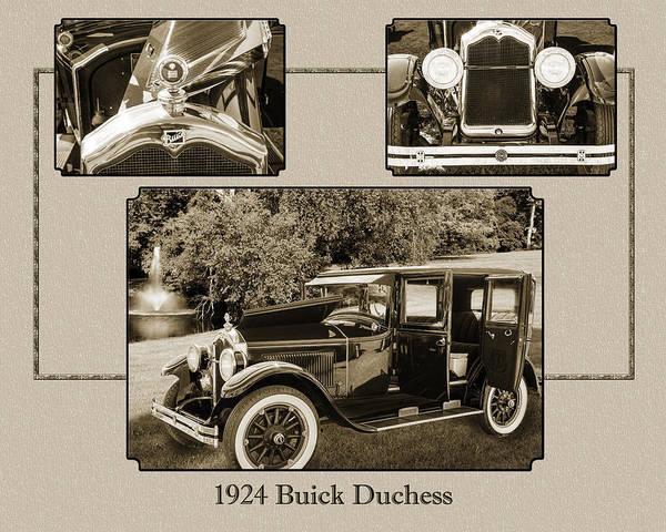 Photograph - 1924 Buick Duchess Antique Vintage Photograph Fine Art Prints 122 by M K Miller