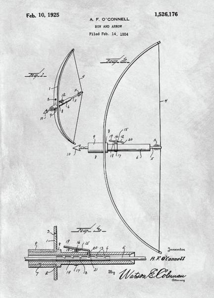 Drawing - 1925 Bow And Arrow by Dan Sproul
