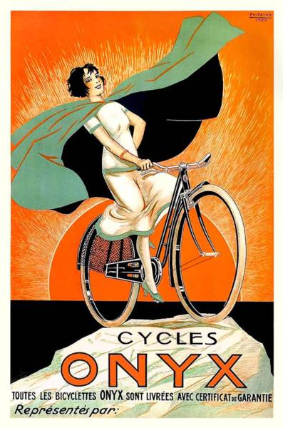 Wall Art - Digital Art - 1925 Onyx Cycles French Advertising Poster by Retro Graphics
