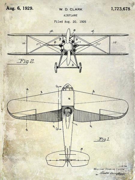 Cargo Plane Wall Art - Photograph - 1929 Airplane Patent by Jon Neidert