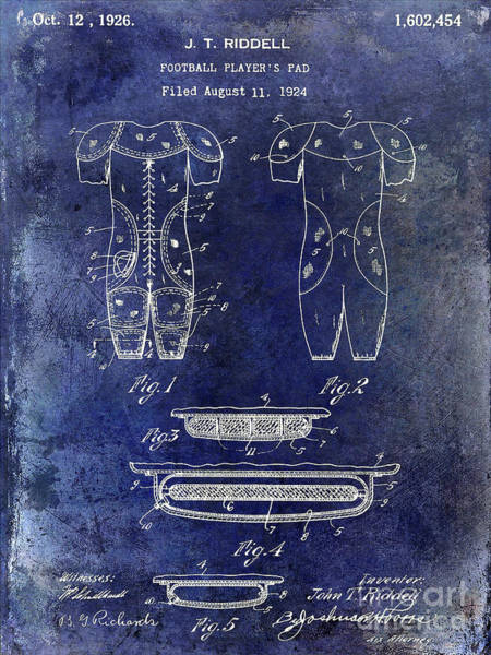 Ohio State Football Photograph - 1926 Football Patent Blue by Jon Neidert