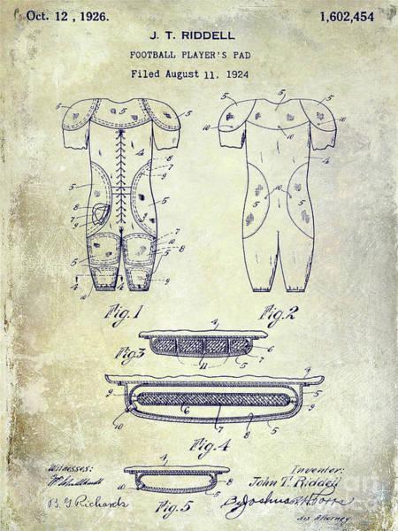 Ohio State Football Photograph - 1926 Football Patent by Jon Neidert
