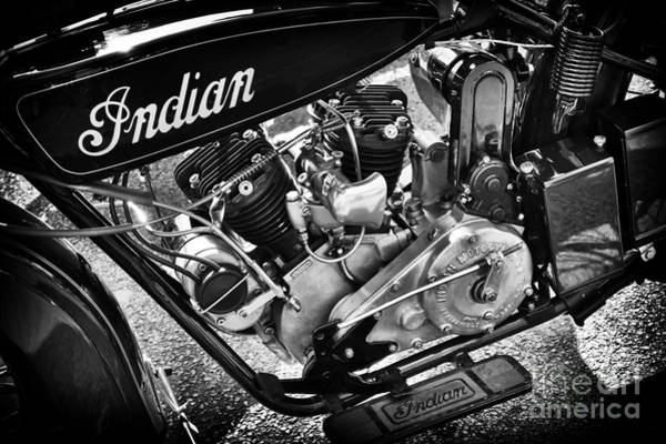 Photograph - 1926 Indian Scout Monochrome  by Tim Gainey