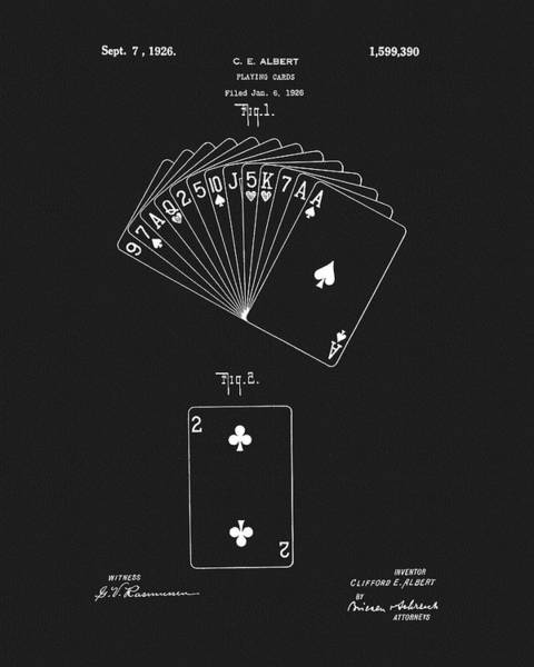 Drawing - 1926 Playing Cards by Dan Sproul