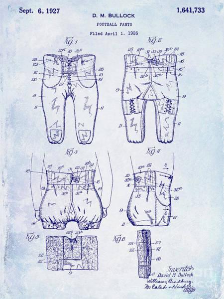 Ohio State Football Photograph - 1927 Football Pants Patent by Jon Neidert