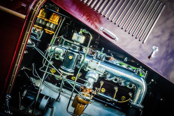 Photograph - 1927 Marmon E75 Speedster Engine -0314c by Jill Reger