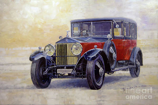 Wall Art - Painting - 1927 Rolls-royce 40-50 Phantom 1  by Yuriy Shevchuk