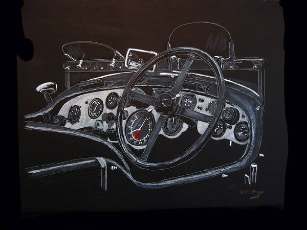 Painting - 1928 Bentley Dash by Richard Le Page