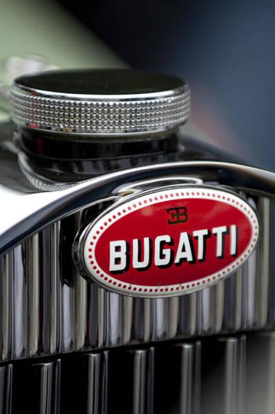Photograph - 1928 Bugatti Hood Emblem by Jill Reger