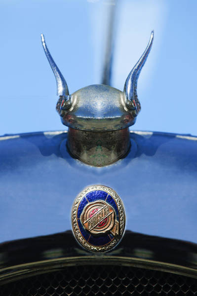 Photograph - 1928 Chrysler Model 72 Deluxe Roadster Hood Ornament - Emblem -0806c by Jill Reger