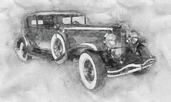 Four Wheeler Mixed Media - 1928 Duesenberg Model J - Automotive Art - Car Posters by Studio Grafiikka
