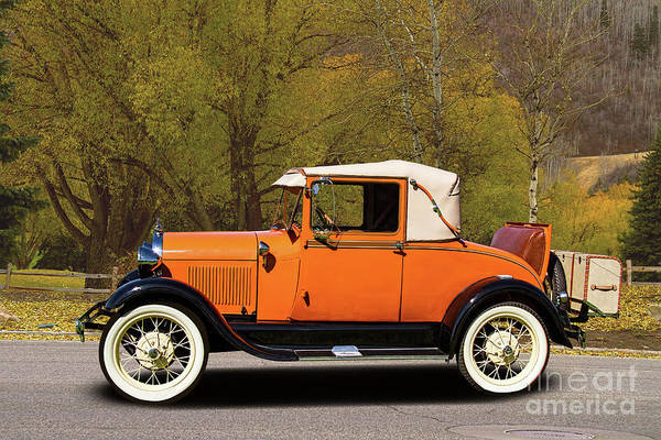 Wall Art - Photograph - 1928 Ford Vintage Model A Roadster by Nick Gray