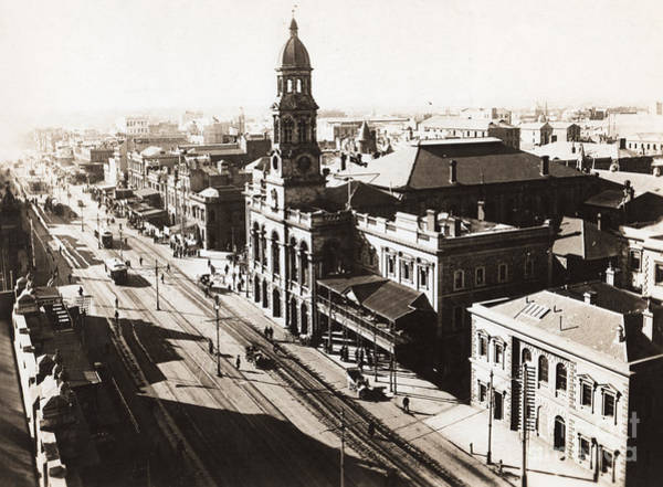 Postcard Photograph - 1928 Vintage Adelaide City Landscape by Jorgo Photography - Wall Art Gallery