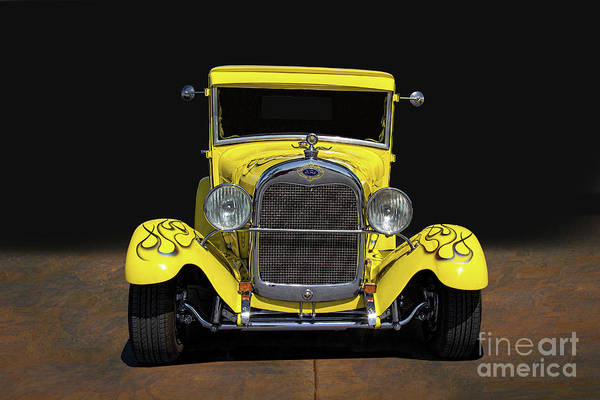 Wall Art - Photograph - 1928 Yellow Ford Coupe by Nick Gray