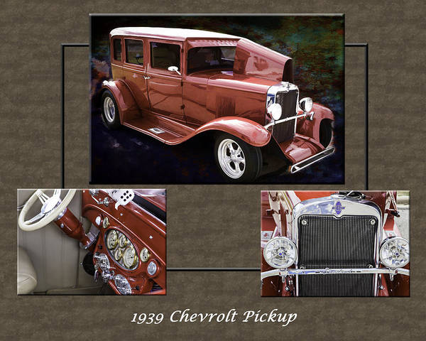 Photograph - 1929 Chevrolet Classic Car Automobile Color Red 3557.02 by M K Miller