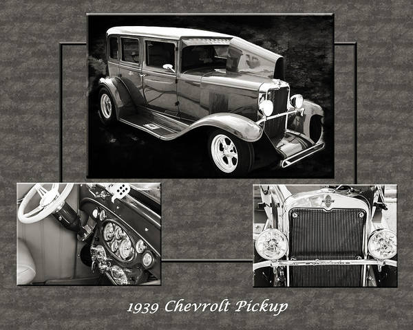 Photograph - 1929 Chevrolet Vintage Classic Car Automobile Sepia 3557.01 by M K Miller