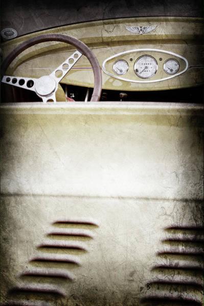 Wall Art - Photograph - 1929 Ford Model A Roadster -0043ac by Jill Reger
