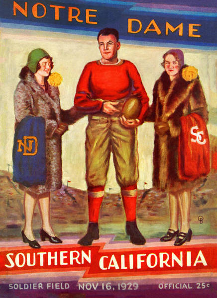 Wall Art - Painting - 1929 Notre Dame Versus Southerncal by John Farr