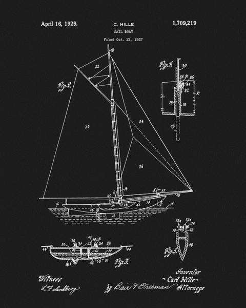 Sailboat Mixed Media - 1929 Sailboat by Dan Sproul