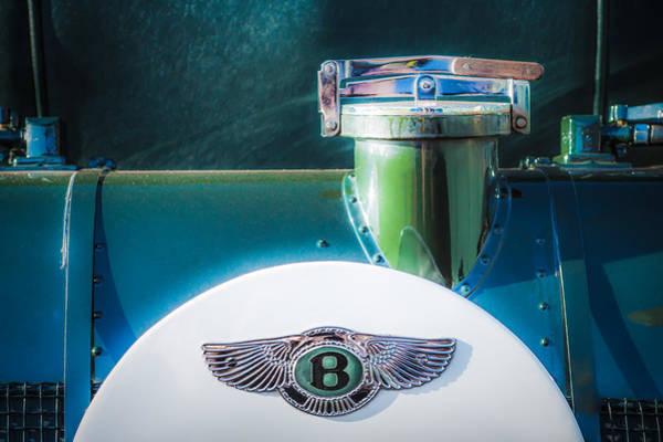 Photograph - 1930 Bentley Speed Six Emblem -0275c by Jill Reger