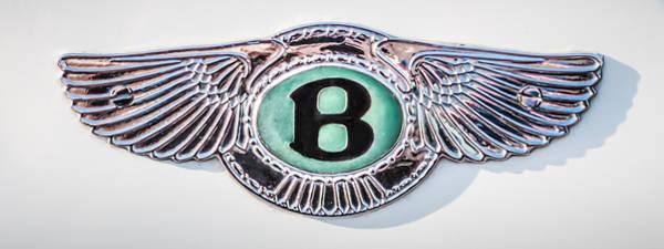 Photograph - 1930 Bentley Soeed Six Emblem -0275cp by Jill Reger
