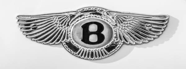 Wall Art - Photograph - 1930 Bentley Speed Six Taillights -0275bwp by Jill Reger
