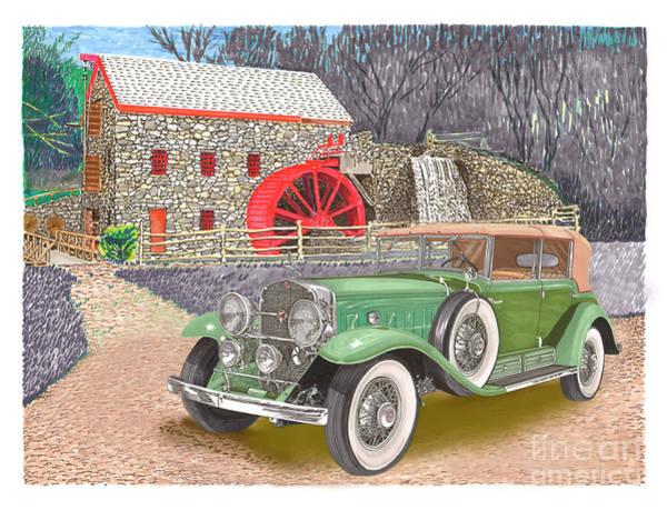 Wall Art - Painting - 1930 Cadillac V-16 by Jack Pumphrey