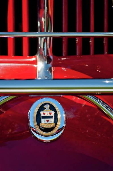 Photograph - 1930 Cord L29 Phaeton Emblem by Jill Reger