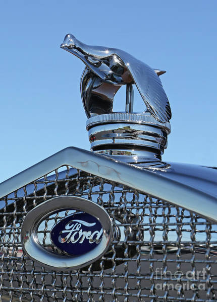 Photograph - 1930 Ford Hood Ornament by Kevin McCarthy