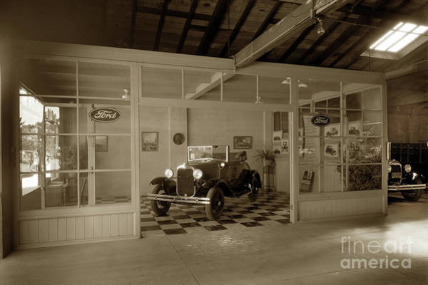 Photograph - 1930 Ford Model A Cabriolet 2 Door Convertible  On The Showrooms by California Views Archives Mr Pat Hathaway Archives