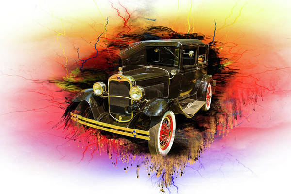Digital Art - 1930 Ford Model A Original Sedan 5538,04 by M K Miller