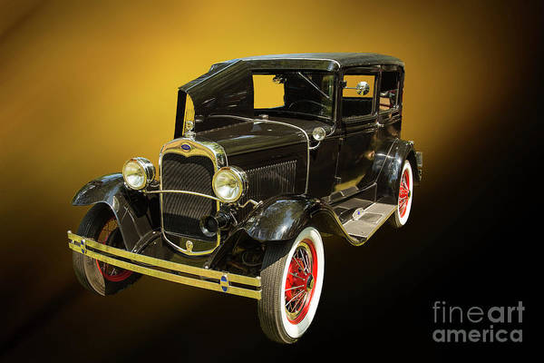 Photograph - 1930 Ford Model A Original Sedan 5538,05 by M K Miller