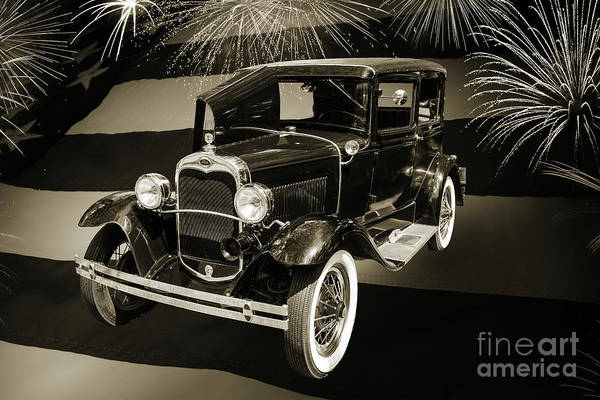 Photograph - 1930 Ford Model A Original Sedan 5538,16 by M K Miller