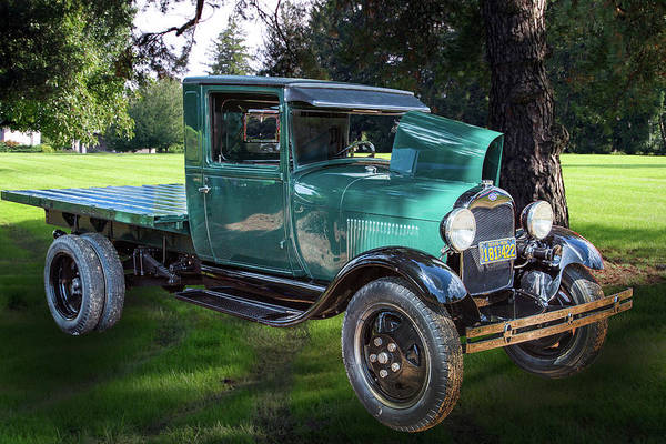 Photograph - 1930 Ford Stakebed Truck 5512.01 by M K Miller