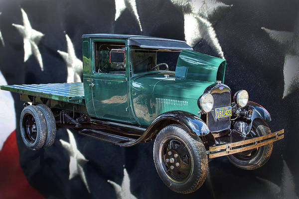 Photograph - 1930 Ford Stakebed Truck 5512.03 by M K Miller