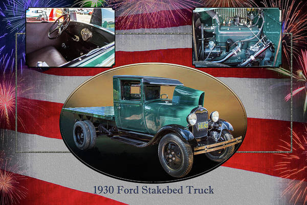 Photograph - 1930 Ford Stakebed Truck 5512.04 by M K Miller