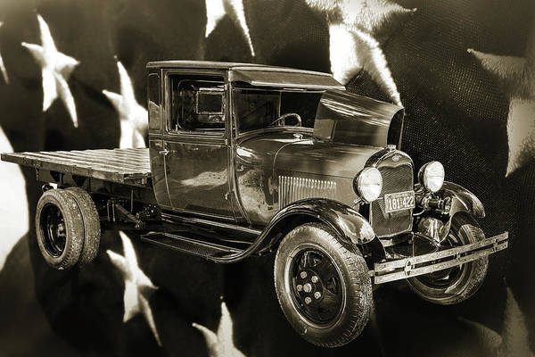 Photograph - 1930 Ford Stakebed Truck 5512.52 by M K Miller