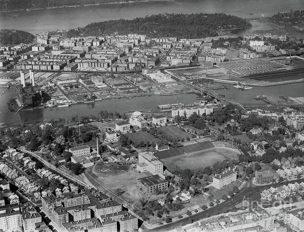 Photograph - 1930's Northern Manhattan Aerial  by Cole Thompson
